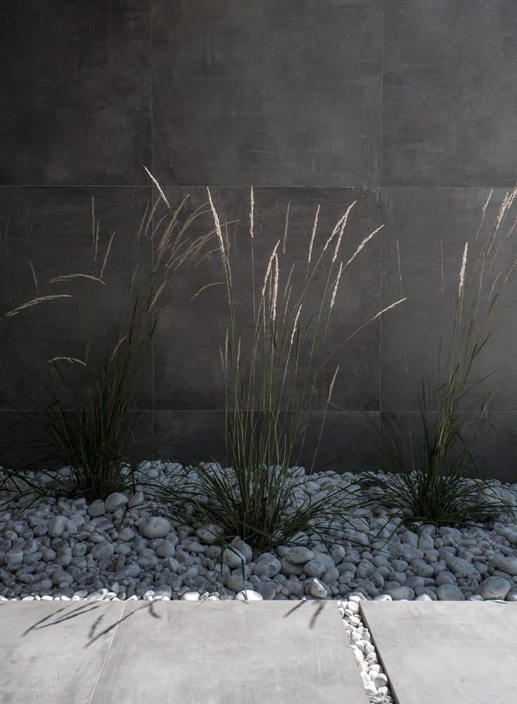Détail architecture, aménagement de jardin, terrasse, constructeur maison - Maison d'architecte - Maison Particulière - Haute-Savoie - 74