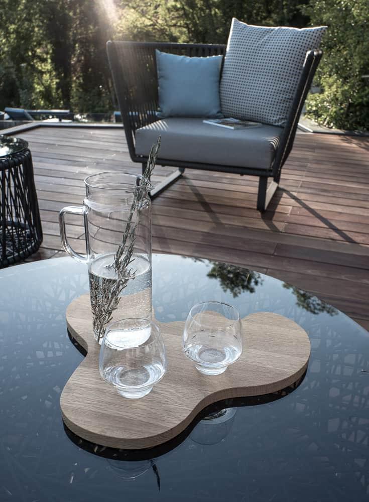 Détail architecture, terrasse, piscine, constructeur maison - Maison d'architecte - Maison Particulière - Haute-Savoie - 74