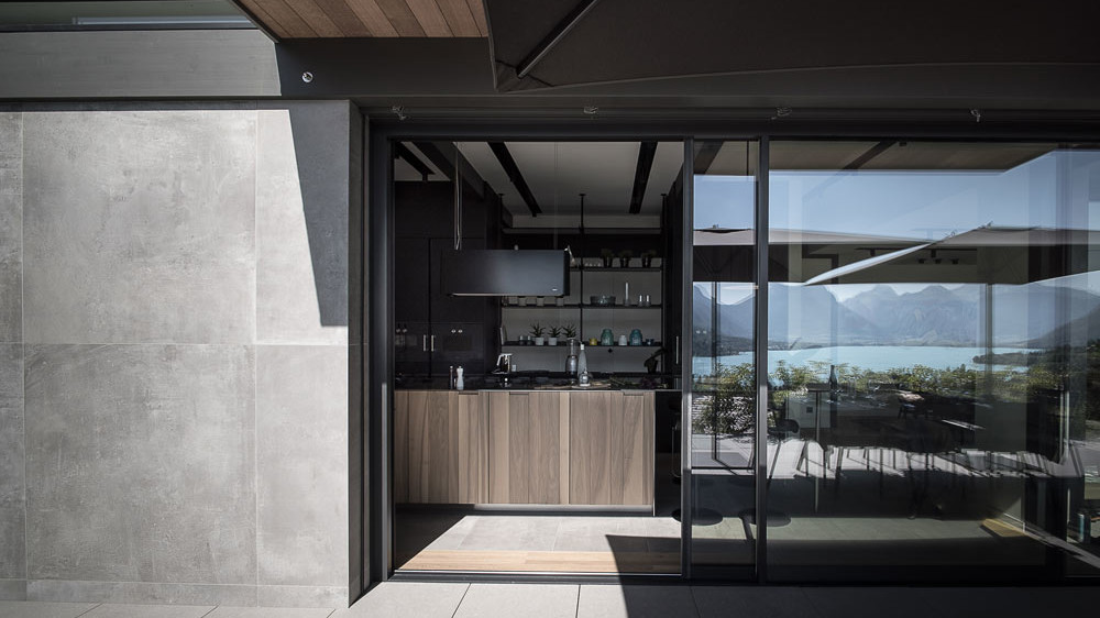Cuisine Boffi, maison design, constructeur maison - Maison d'architecte - Maison Particulière - Haute-Savoie - 74