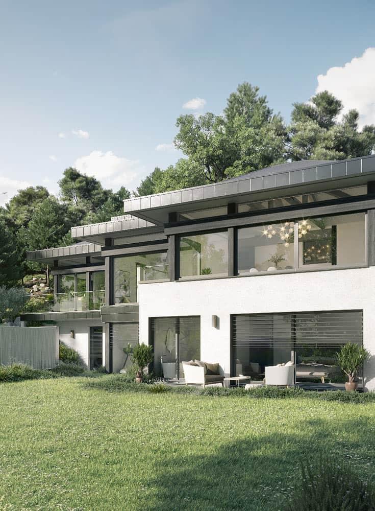 Détail architecture maison contemporaine, constructeur maison - Maison d'architecte - Maison Particulière - Haute-Savoie - 74