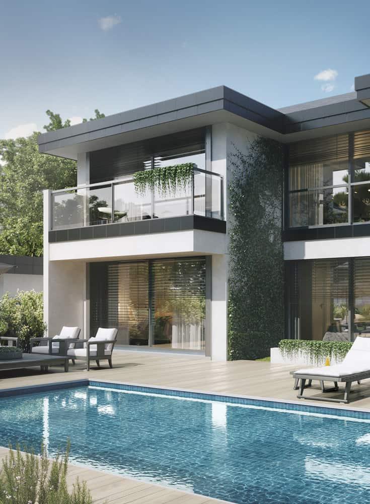 Superbe Maison avec terrasse piscine, constructeur maison - Maison d'architecte - Maison Particulière - Haute-Savoie - 74