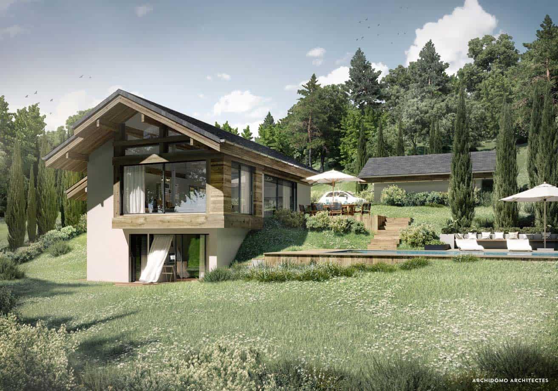 Maison contemporaine d'architecte à Annecy. Maison contemporaine, constructeur maison - Maison d'architecte - Maison Particulière - Haute-Savoie - 74