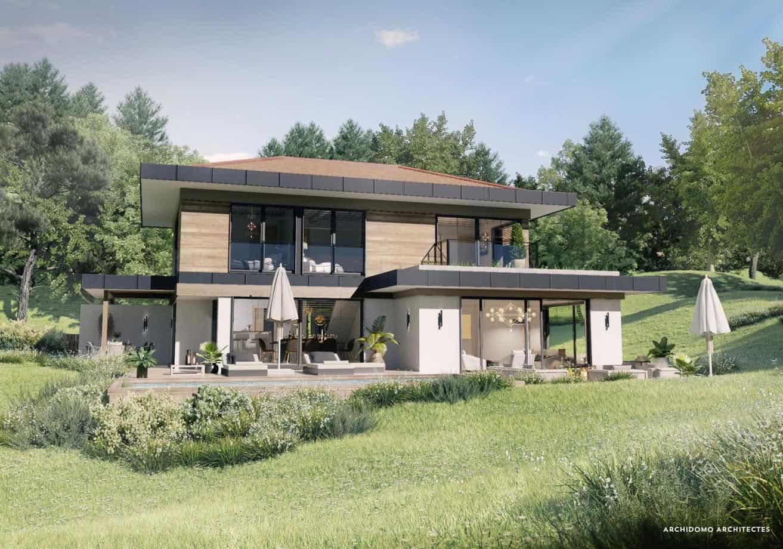 Belle maison contemporaine d'architecte. Maison contemporaine, constructeur maison - Maison d'architecte - Maison Particulière - Haute-Savoie - 74