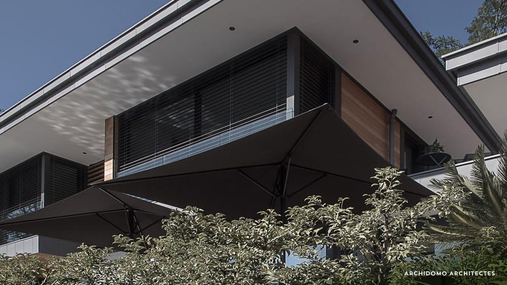Détail architecture. maison contemporaine, constructeur maison - Maison d'architecte - Maison Particulière - Haute-Savoie - 74