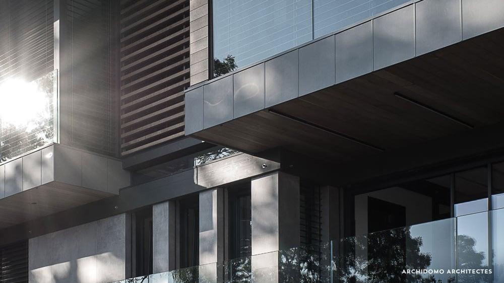 Détail construction maison, maison contemporaine, constructeur maison - Maison d'architecte - Maison Particulière - Haute-Savoie - 74